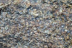 Rough granite surface stone crystal natural surface base design Stock Image