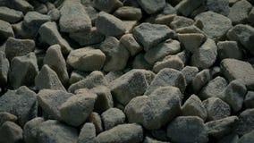 Rough Gravel Stones Moving Shot. Tracking shot moving slowly over gravel stones stock video