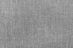 Rough gray linen cloth. Royalty Free Stock Image