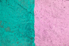 Rough green and red cement wall texture background Stock Images