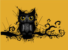 Rough grungy owl Stock Images
