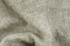 Rough gunny sack or shoe cloth as background for name, caption or title. Good to be used at web page, graphic design, catalog or texture Stock Photo
