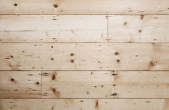 Rough hard wood floor. From untreated wood with visible texture Stock Images