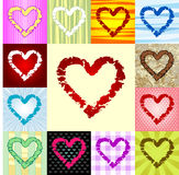 Rough heart pattern Royalty Free Stock Image