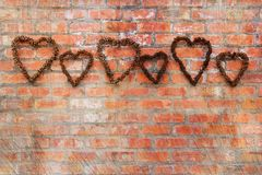 Rough hearts Stock Photos