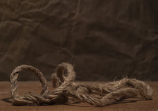 Rough hemp rope Royalty Free Stock Image