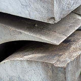 Rough hewn,cut marble rock Stock Images