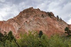 Rough Hewn Rock Formation at Garden of the Gods. A rough and jagged hill at Garden of the Gods in Colorado Springs, Colorado Royalty Free Stock Image