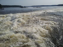 Rough lake waters Stock Photography
