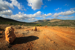 Rough landscape of Crete, Greece Royalty Free Stock Images
