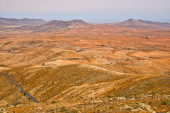 Rough landscape in Fuerteventura Royalty Free Stock Image