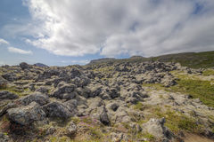 Rough landscape in Iceland Stock Photography