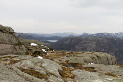 Rough landscape in the mountains of norway Stock Photography