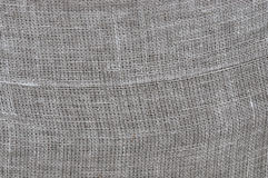 Rough linen cloth close-up Stock Photography