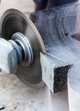 Rough machining of solid stone grinder Royalty Free Stock Image