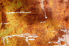 Rough metal texture. Rusty metal barrel texture detail. Scratched paint and rust. Abstract background stock image