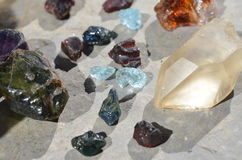 Rough minerals Stock Image