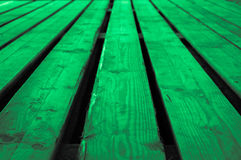 Rough mint green grayish light greenish wooden stage background Royalty Free Stock Photo