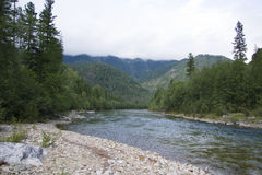 Rough mountain river Shumak. Stock Photo