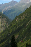 Rough mountainous landscape. In the Alps Stock Photography