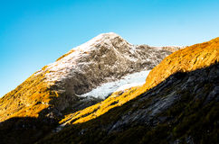 Rough mountains in central norway during autumn. Rough and high mountains in central norway during autumn and morningtime Stock Image