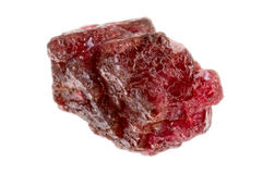 Rough natural uncut Spinel gemstone Royalty Free Stock Images