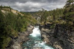 Rough nature in Norwegian landscape Royalty Free Stock Photo
