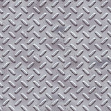 Rough nickel plate. A large sheet of rough and pitted nickel, silver or alloy diamond or tread plate Royalty Free Stock Photo