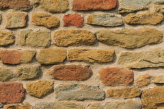 Rough old brick wall close up Stock Images