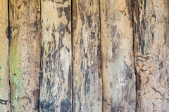 Rough old hardwood planks. Closeup Royalty Free Stock Images