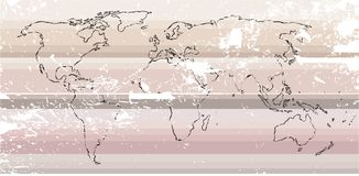 Rough old map of the world Royalty Free Stock Photo