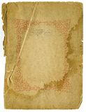 Rough Old Paper With Decorative Design royalty free stock images