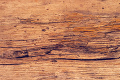 Rough old rustic wooden plank background with cracks Royalty Free Stock Images