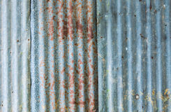 Rough old zinc plate wall Royalty Free Stock Photography