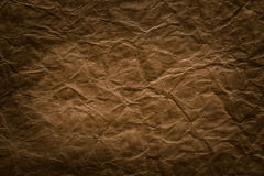 Rough Paper Background, Aged Brown Creased Page Texture Stock Image