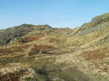 Rough path leading up eastern side of Loughrigg Fell Stock Images