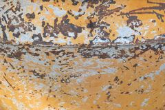 Rusty zinc sheet with scratched skin surface stock images