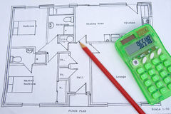 Rough plan of a small house: down-sizing. Stock Image