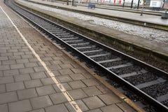 Rough Rail Tracks Stock Photo