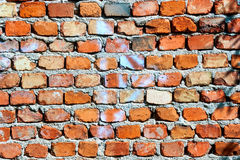 Rough red brick wall. Old, rough red brick wall Royalty Free Stock Photography