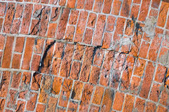 Rough red brickwall Royalty Free Stock Image