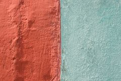 Rough red bulge concrete wall background, texture.  stock photography