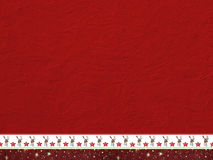 Rough red painted wall and decorative christmassy border Stock Photography