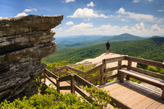 Rough Ridge Overlook Blue Ridge Parkway NC Royalty Free Stock Images