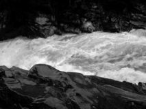 Rough river in the Carpathians stock photography