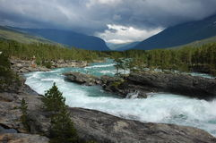 The rough river in Norway Royalty Free Stock Image