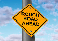 Free Rough Road Ahead Street Sign Royalty Free Stock Photo - 18050785