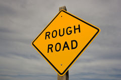 Rough Road Sign Royalty Free Stock Photo