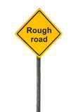 Rough road sign. Stock Images