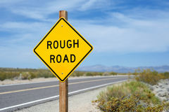 Rough Road Sign Royalty Free Stock Images